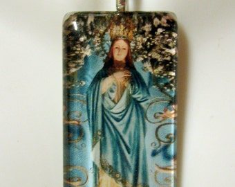 Mary, mother of mercy pendant with chain - GP01-091