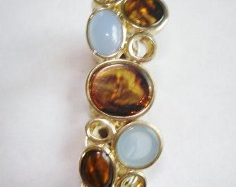 Gold Tone Glass Stone  Bracelet