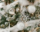 "Faux Fur Arctic Fox Cream Color Christmas Tree Garland - 72"" Faux Fur Tree Garland"
