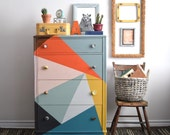 Multi Coloured Tallboy Dresser