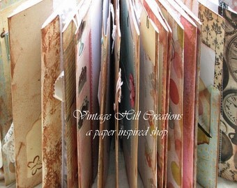 Wedding Guest Book - Vintage - Alice in Wonderland- Pastel - Custom, Shabby Chic