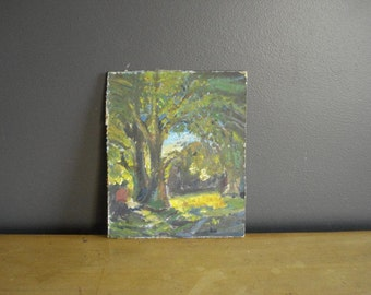 Once Upon a Tree - Vintage Landscape Painting