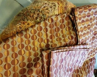 Upholstery Fabric Copper Gold Geo Woven from Spain High End