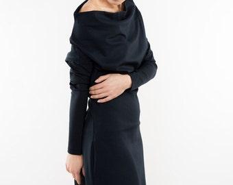 Midi dress | Couture dress | Blue party dress | LeMuse midi dress