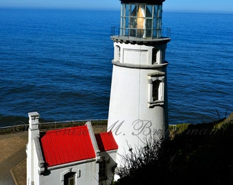 Heceta Head Lighthouse Photo - Beach Decor - Lighthouse Wall Art - Beach House Wall Art - Lighthouse Photos - Oregon Coast