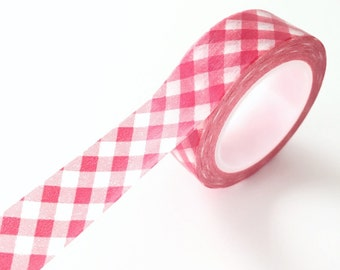 Red gingham Washi Tape red Deco Paper Tape