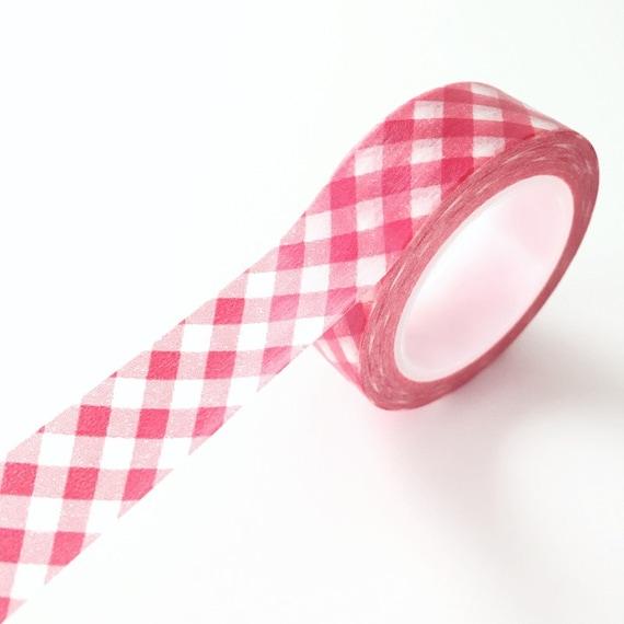 Guinga roja cinta de papel Washi Tape rojo Deco por PrettyTape
