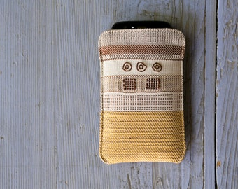 Bronze Age Series / Xanthippe - Handwoven Mobile phone case