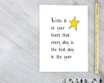 Inspirational Quote Card - Motivational Card - The Best Day Card - Friendship Card - Quote Card - Ralph Waldo Emerson Quote - Emerson Quote