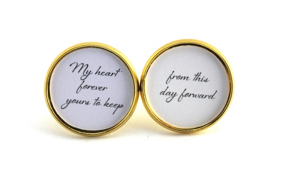 Groom Gift, Grooms Cufflinks, Cuff links, From this Day Forward