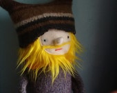 Yellow Haired Bearded Hipster Man Doll
