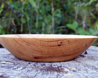 Wood Bowl, Southern Pecan Bowl, Pecan Bowl, Fruit Bowl, Serving Bowl, hand turned, Bowl, Tan, Cream, Brown, Kitchen Ware, Table Decor, Table