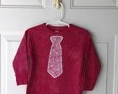 Kids Valentine's Day Shirt (3T), Boys Valentine's Day Shirt, Pink Heart Necktie Valentine's Day Shirt, Girls Valentine's Day Shirt