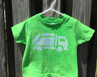 Garbage Truck Shirt, Kids Truck Shirt, Boys Garbage Truck Shirt, Green Truck Shirt, Girls Truck Shirt, Green Garbage Truck Shirt (18 months)
