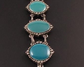 Faux Turquoise Bracelet. Ombre Bracelet, Southwestern Bracelet, Blue Bracelet, Boho Bracelet, Ombre Turquoise Bracelet