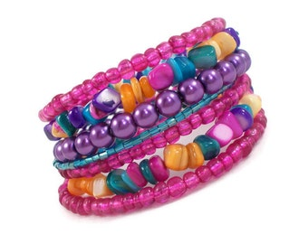 Colorful Bracelet, Bollywood Jewelry, Boho Jewelry, Jewelry for Teens, Bracelet Set, Bollywood Bangles, Bohemian Jewelry