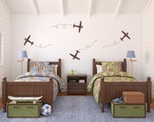 Airplane Wall Decal Set - Plane Decals - Set of 4 - Large Set