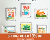 Kids Art Display Frames - Wall Sticker - Peel and Stick
