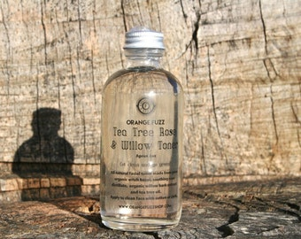Tea Tree and Rose Facial Toner with Organic Black Willlowbark
