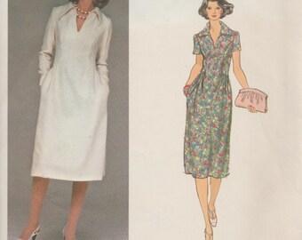 Vogue Designer Original 1394 / Vintage Sewing Pattern By Sybil Connolly / Dress / Size 8