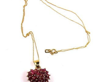 18Kt. Gold and Ruby Heart Necklace