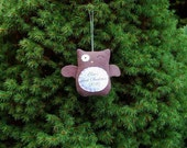Personalized Owl Christmas Ornament, Baby's First Christmas Personalized Ornament, Custom Ornament - Brown Owl
