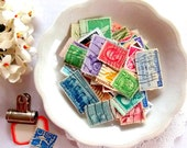 Vintage Postage Stamps / 20 Pieces / Journal / Old Stamps / Planner / Scrapbook
