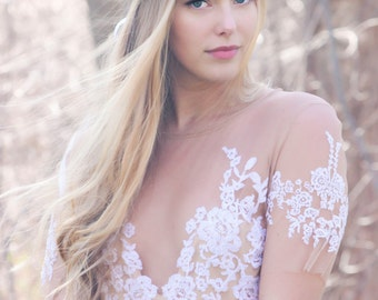 white flower hydragea, bridal headpiece, rustic wedding flower, bridal hair crown, woodland wedding, peachy pink flower crown for hair