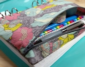 A5 Planner Pouch - Zip Pencil Case for Filofax, Kikki K, Webster's Pages Planners - Zippered Accessory Bag for 6 Ring Binder