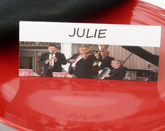 Band Playing Instruments- Place Cards, Name Cards, Food Tents  -Set of 6- Table Decoration