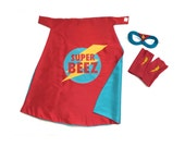 Superhero Cape Set Personalized for kids- comes with accessories  - Customized Cape, Mask and Armband Set PREMIUM set
