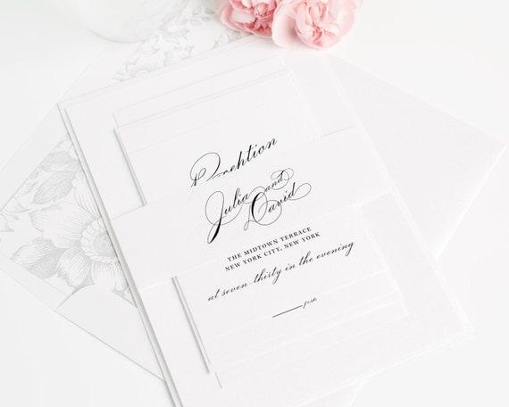 Vintage Glam Wedding Invitations: Vintage Glam Wedding Invitation Suite Floral By