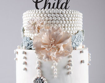 Bless This Child/Cake Topper/Name/YOUR Name/Personalized/Party Decor/Cake Decor/Baptism/Holy Communion/Confirmation
