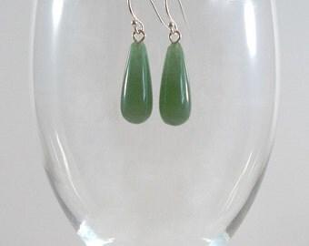 Green Aventurine Earrings Gemstone Earrings Green Aventurine Silver Earrings Green Aventurine Gemstone Earrings Aventurine Drop Earrings