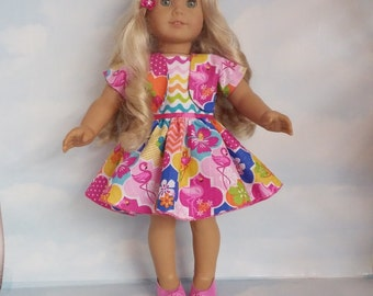 18 inch doll clothes - #325 Flamingol Outfit Handmade to fit the American Girl Doll - FREE SHIPPING
