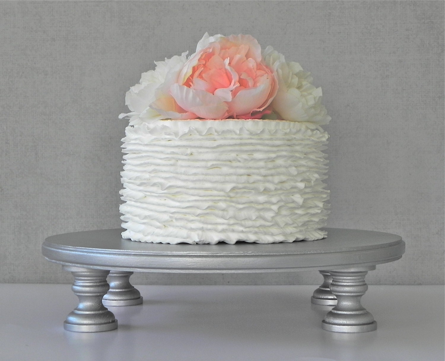 Silver Cake Stand 20 Cupcake Silver Cake Topper Vintage