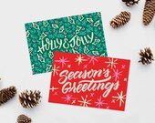 Cheerful Holiday Postcards - Set of 20