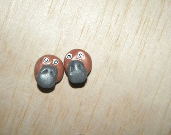 Duck-Billed Playtpus Clay Stud Earrings