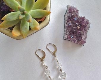 Swarovski Crystal Earrings / Swarovski Crystal Jewelry / Sterling Silver Earrings / Fancy Earrings / Wire Wrapped Earrings / Dangle Earrings