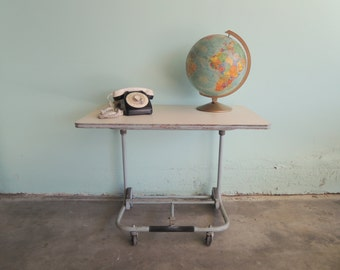 MID CENTURY MODERN Industrial Cart or Desk  (Los Angeles)