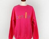 Vintage Benetton Hot Pink Sweatshirt