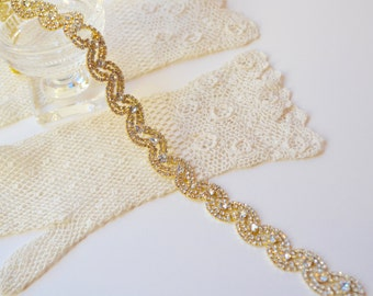 Gold Wedding Belt,Gold Wedding Sash,Gold Bridal Belt,Gold Bridesmaid Belt,Rhinestone Sash,Gold Crystal Sash,Golden Rhinestone