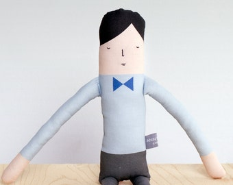 Blue Bow Boy Doll (Little People)