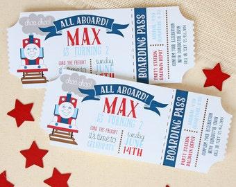 Train Birthday Invitation - Train Ticket Invitations - Ticket Invitations - Boys Birthday Invitations