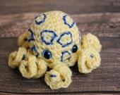 Amigurumi Blue-ringer Octopi - Fun Octopus Dolls - Blue Ringed Octopus - Stocking Stuffer - Science Toy - Gift for Geek - Crochet Octopus