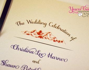 Mountain Themed Wedding or Reception Program Booklet
