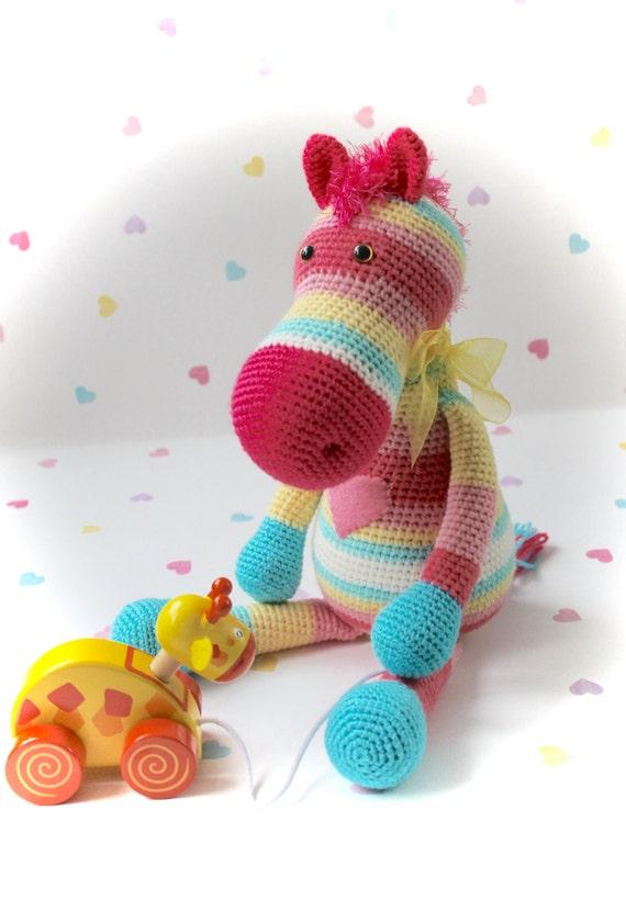 Alice the Little Pony. Crochet Amigurumi Animal Horse Pony