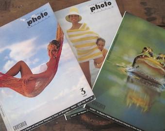 1960s INTERNATIONAL PHOTO TECHNIK magazine - Grossbild Photography Art / Trade mag, German /English language edition - 3 issues: 1963 + 1965