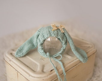 Floppy Ear Bunny Bonnet, Adorable Photography Prop for Newborn