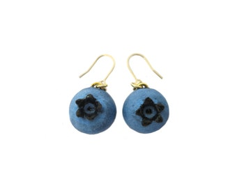 Blueberry Earrings - Gold